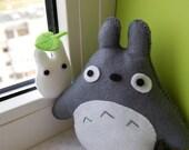 Totoro and Mini  Totoro felt plushies