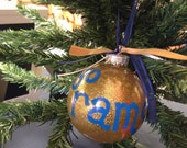 Hand-painted Rams Ornament