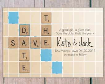 Save the Date - scrabble