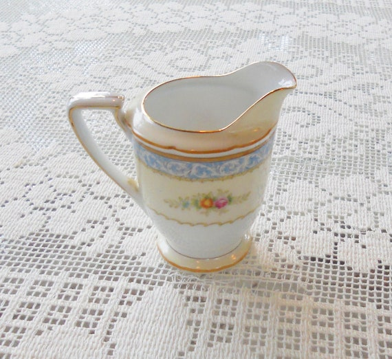 Noritake China Floral and Creamy White Creamer - Vintage, Antique, Farmhouse, Nostalgic, Romantic, French Decor, Shabby Chic, Wedding