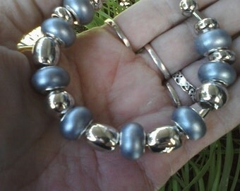 Not so heavy metal, Euro style bracelet