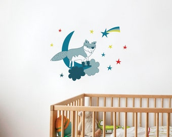 Vinnie the Pirate Wolf - kid wall decal