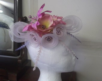 romantic  50s inspired headpiece