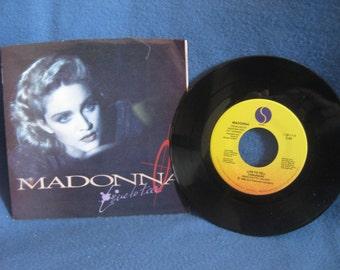 "RARE, Vintage, Madonna - ""Live To Tell / "", 7"" 45 RPM Vinyl Single, Original Press, Pop, New Wave, At Close Range Soundtrack"