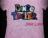 Dance Teacher or any other teacher T shirt, bling, plus sizes  - Great Gifts for Dance Teachers - Etsy Finds