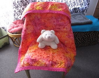 PInk Tie Dye Blanket