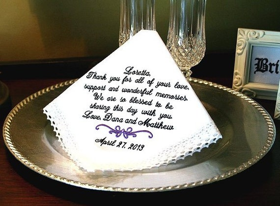 Wedding Gift For Stepmom : Wedding Handkerchief Gift - Thank you for your LOVE, SUPPORT and ...