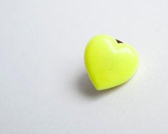 Vintage neon heart pin