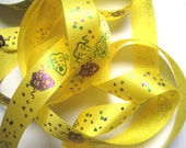 """Mardi Gras Carnival Masks Ribbon Trim, Multi / Yellow, 7/8"""" inch wide, 1 yard, For Gift Wrapping, Scrapbook, Decor, Accessories, Mixed Media"""