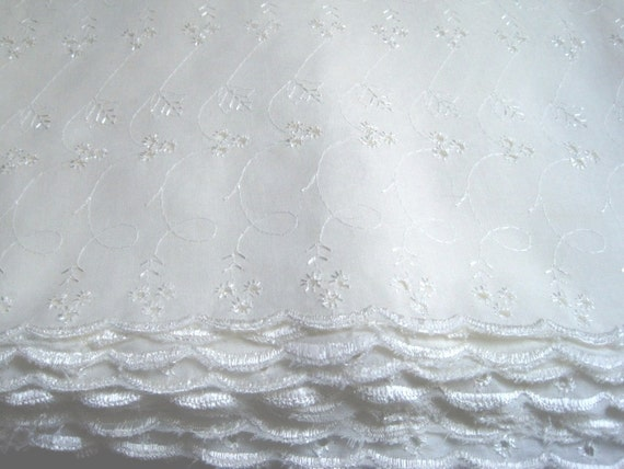 Embroidered eyelet lace fabric with by primroselaceribbon