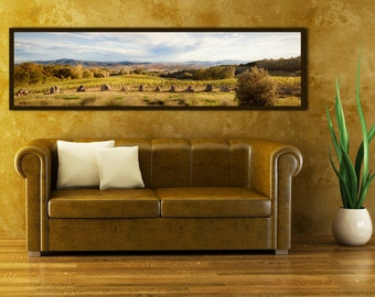 Large Tuscany Photo in Italy - Large Wall Art - Framed Photograph Printed on Canvas