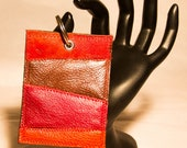 Sale. Leather rectangular shape keychain or luggage tag with keyring. Ready to ship.