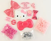 "Kawaii ""Club Pink"" DIY deco kit to bling out your phone - Set 143A"