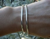 Unisex thick and solid sterling silver bangles