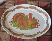 Melmac Turkey Platter  Very Pretty ThanksGiving will Soon Be Here / NOT included in Clearingout Sale