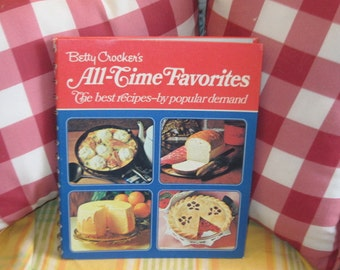 Betty Crocker's All Time Favorites The best Recipes by Popular Demand,Vintage Cookbook,Vintage Betty Crocker Book,Vintage Kitchen