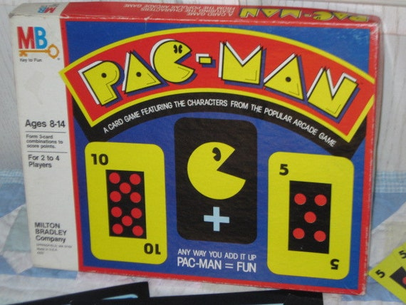Cool Vintage Pac Man Card Game 1980 From Popular Arcade Game.