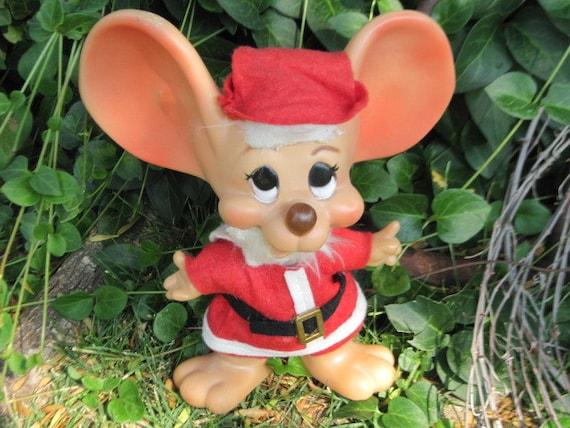Vintage 1970's Big Ear Santa  Mouse Bank  Roy Des of Fla