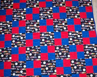Race Cars Twin Size Quilt