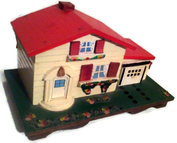 Music box chalet house music box vintage house music box for Retro house music