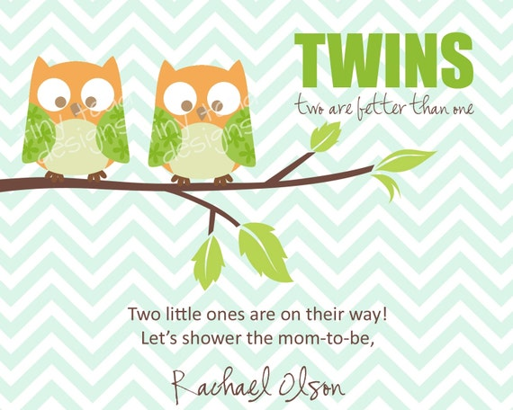 Nifty image within free printable twin baby shower invitations
