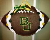 Baylor University Football - Burlap Door Hanger
