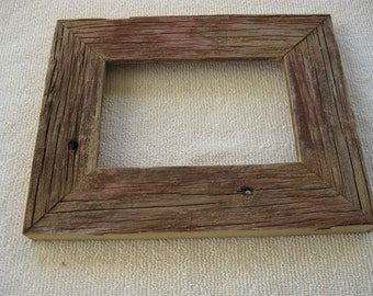 "small, Red, Reclaimed Barn Wood Frame, 4""x6"""