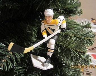 Jaromir Jagr or Tom Barrasso or Luc  Robataille or Ron Francis or Patrick Lalime Pittsburgh  Penguins custom hockey christmas ornament