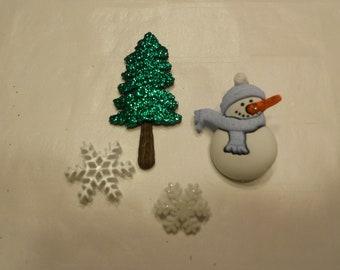 choice of color snowman button set, 14 - 43 mm (24)