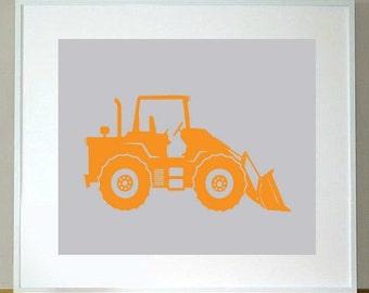 Endloader Truck Print 8 x 10 children's construction, wall art