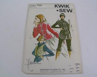 Vintage KWIK SEW Pattern 750 Ladies Vests