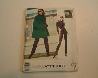 Vintage Vogue Pattern Attitudes 2562 Jennier George Miss Jacket Top Pants