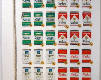 Vintage new old stock Cigarette pack pendants