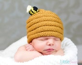Little Sweet Bee Hat - Knit Baby Hat, Photography Prop