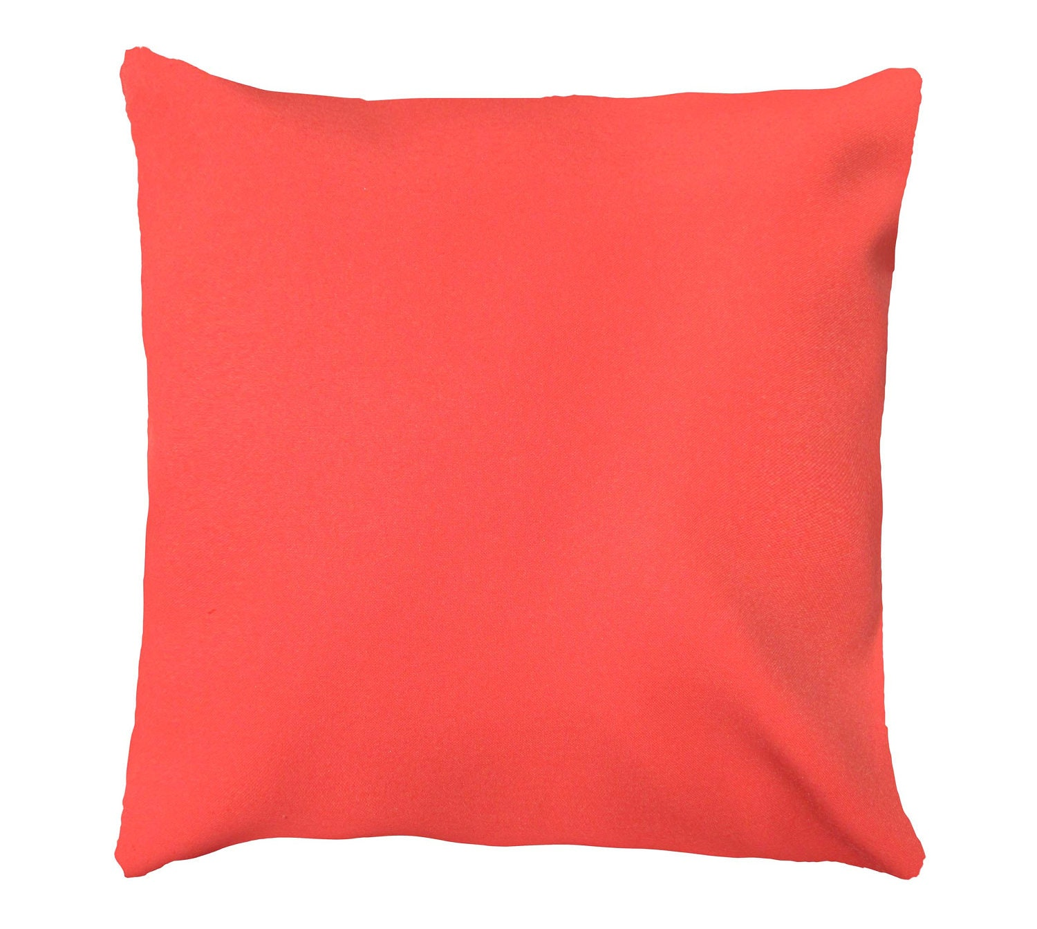 Coral Throw Pillow Cover. Pillow Cover Coral Solid Pillow