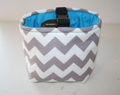 Padded Camera Bag Dslr camera Bag insert Camera Coozy for purse Grey Chevron Turquoise with safety strap  Womens Small Size