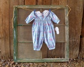 baby romper // beautiful baby onesie for fall, unworn with tags attached // 6 months