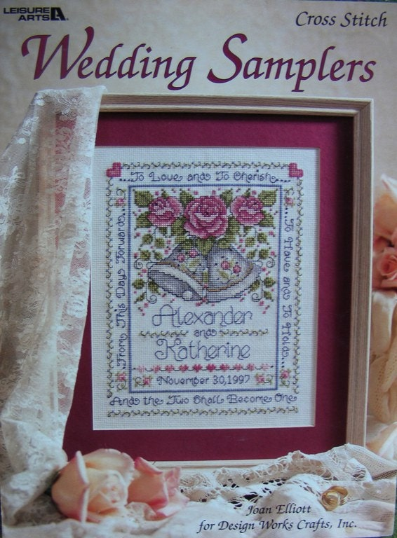 cross stitch wedding samplers by joan elliot leisure arts