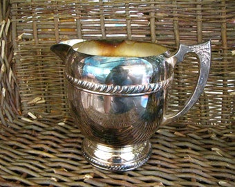 Water Pitcher- Vintage Silverplate- Metal Water Pitcher