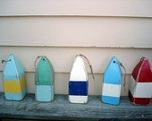 CustomOrder of Four Vintage style Wooden Lobster Buoys with lettering for Aliceland