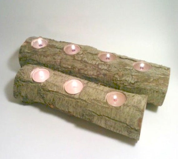 Items similar to log candle fireplace yule