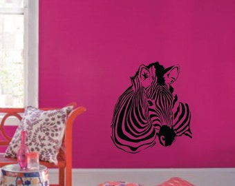 "Large Wall Zebra Pattern Nursery Girls Room Decor Decal Removable 1149 (29"" wide x 33"" high)"