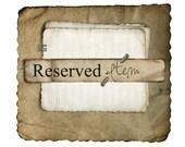 Reserved listing for Rosanne