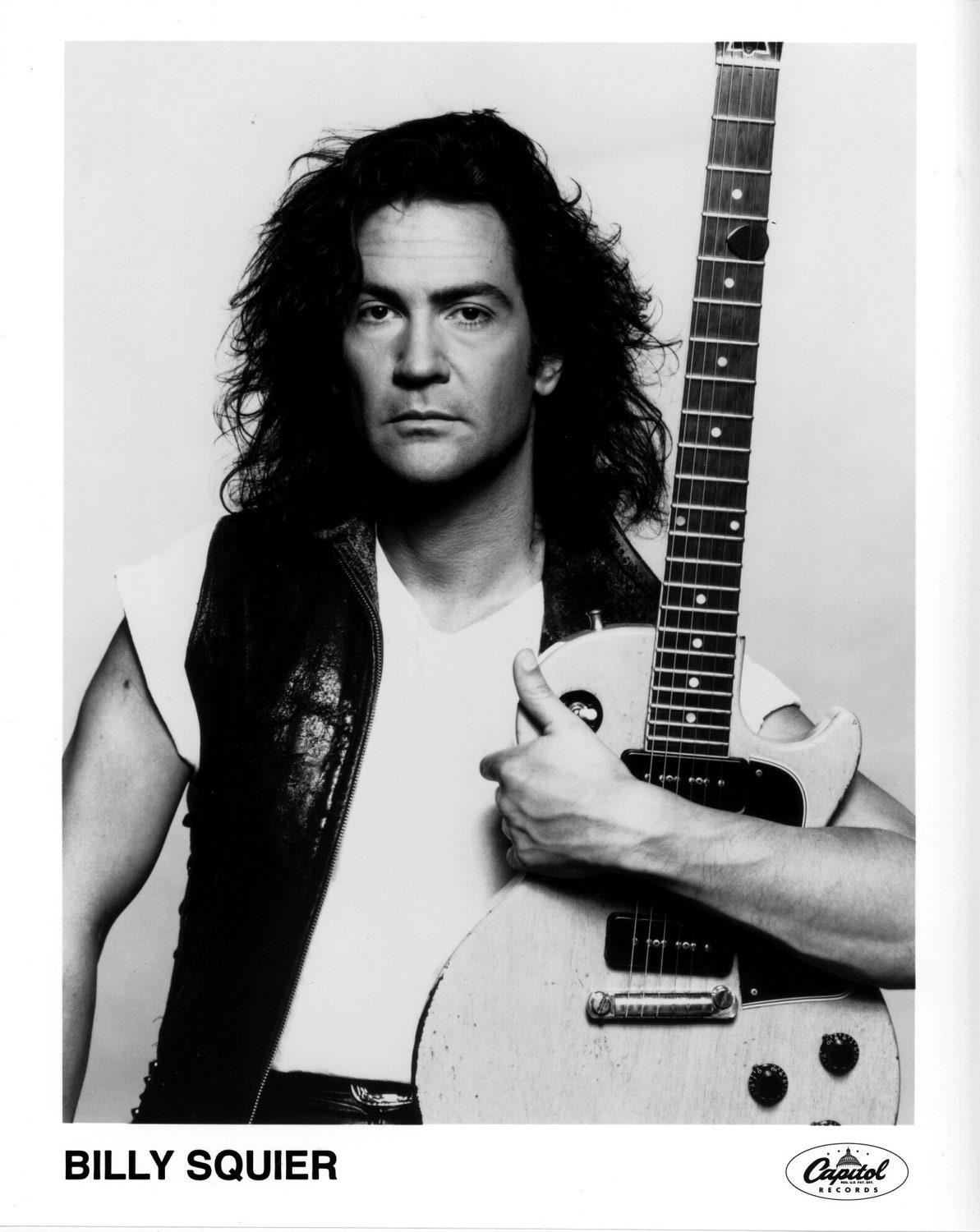 Billy Squier Publicity Photo 8 By 10 Inches