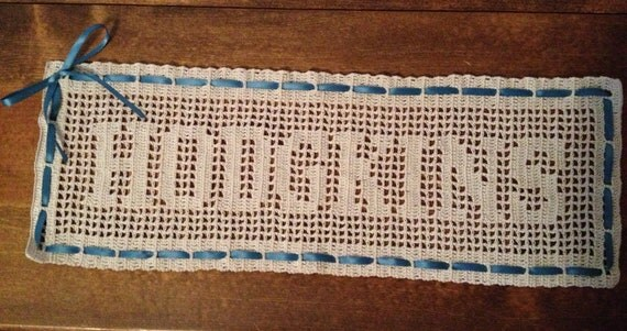 Custom Name Filet Crochet Wall Hanging By Laceycreations131