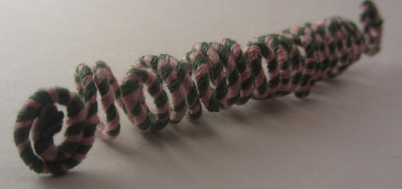 PINK GREEN AKA Basket Weave Swirl Wire Wrapped Dread Locs Braids Twist Hair Jewelry Coils Dreadlock Beads Accessories