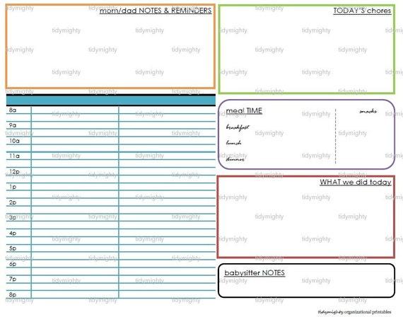 children u0026 39 s daily schedule planner    organizer printable
