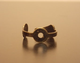Bronze Clock Hand Steampunk Ring