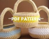 Crocheted Mini Basket - PDF PATTERN