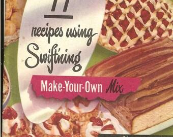 Vintage 1950 Swiftning Baking Cookbook